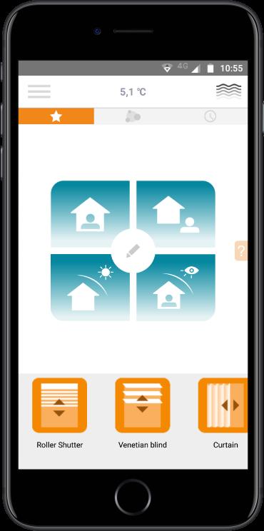 Somfy domotica app